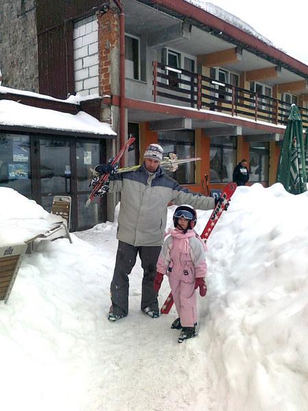 Urokliwe schronisko górskie (pensjonat),w którym mieszkaliśmy podczas pobytu w Rzeczce