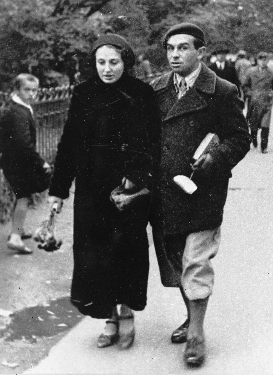 Konstanty Ildefons Gałczyński z żoną, Natalią. /CAF /PAP
