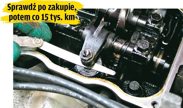 Kontrola luzów zaworowych /Motor
