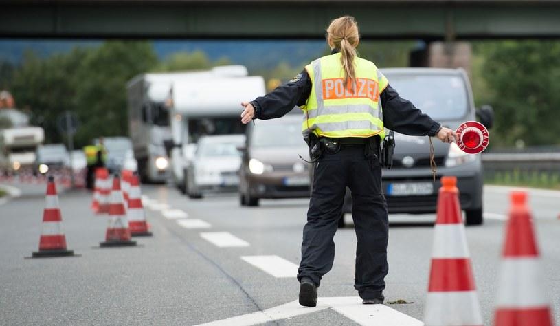 Kontrola na granicy Niemiec i Austrii /Getty Images