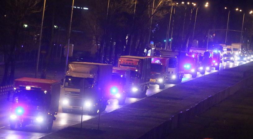 Konwój wyruszył w środę wieczorem z Warszawy /Paweł Supernak /PAP