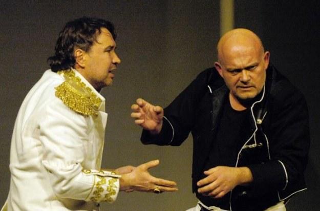 """Kordian"", Teatr Polski. N/z Antoni Ostrouch i Adam Ferency . Fot. Eugeniusz Helbert /Agencja FORUM"