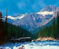Kordyliery, Park Narodowy Banff, Mistaya River /Encyklopedia Internautica