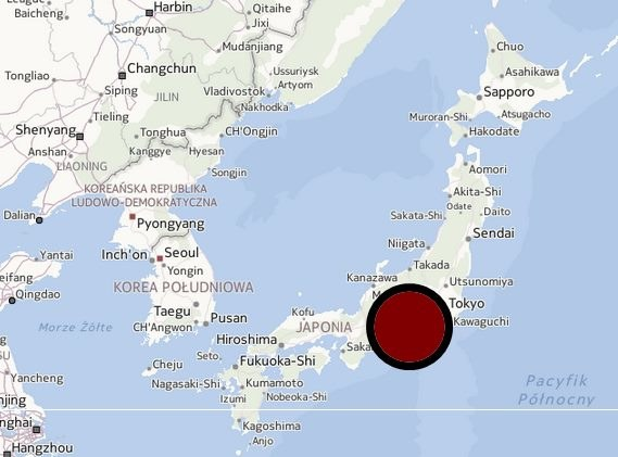 Koreański samolot awaryjnie lądował w Tokio /Mapy.interia.pl /INTERIA.PL