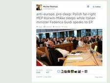 Korwin-Mikke zmasakrowany (?!) w Parlamencie Europejskim