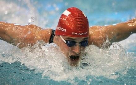 Korzeniowski (AZS AWF Warszawa) pobił rekord kraju na 50 m stylem motylkowym /AFP