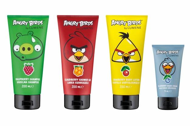 Kosmetyki Angry Birds by Lumene /Styl.pl/materiały prasowe