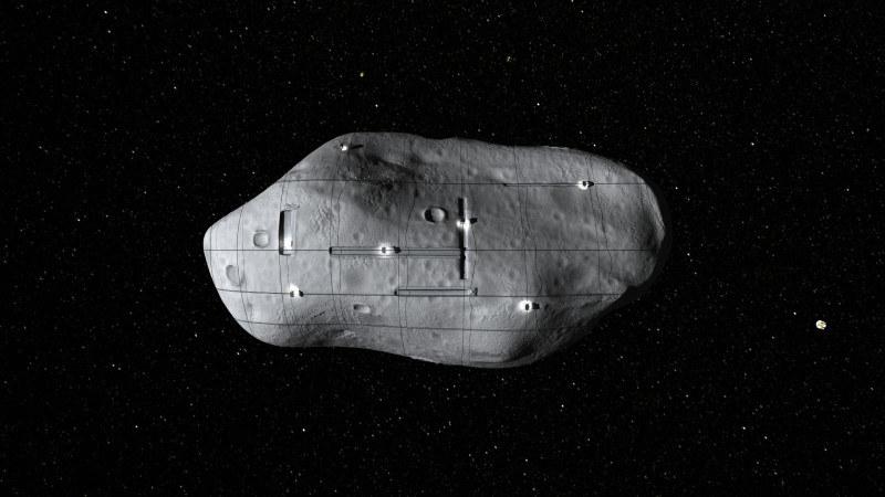 Kosmiczne górnictwo może stworzyć nowy segment rynku kosmicznego. Na grafice widać asteroidę, która potencjalnie może kryć surowce warte fortunę /materiały prasowe