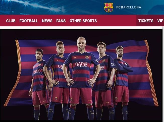 Koszulki FC Barcelona na sezon 2015/16 zaprezentowane na stronie klubowej /Internet
