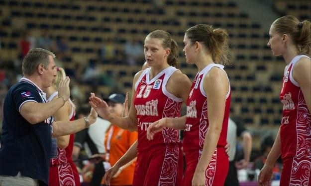 Koszykarki Rosji fetują wans do półfinału. Fot. Grzegorz Małachowski /PAP
