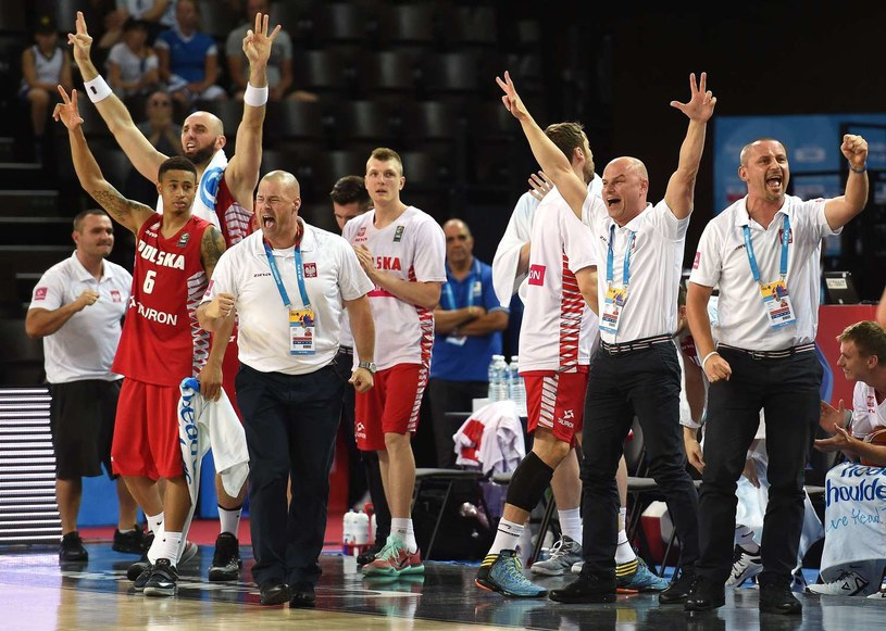 Koszykarska reprezentacja Polski /AFP