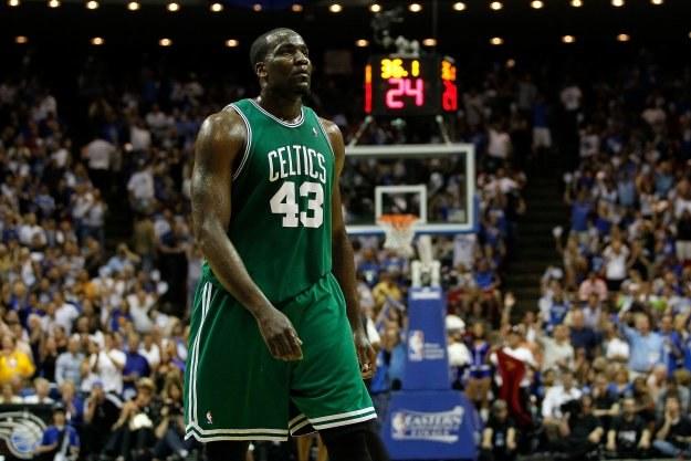 Koszykarz Boston Celtics Kendrick Perkins /AFP