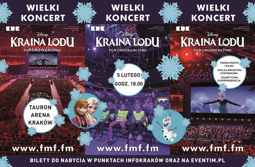 """""""Kraina Lodu"""" Disneya z muzyką na żywo - 5 lutego w Krakowie /materiały prasowe"""