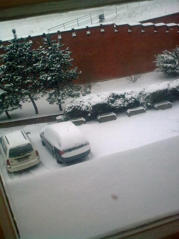 Kraków, godz. 8:45. Widok z okna naszej redakcji na Kopcu Kościuszki /Małgorzata Steckiewicz /RMF FM