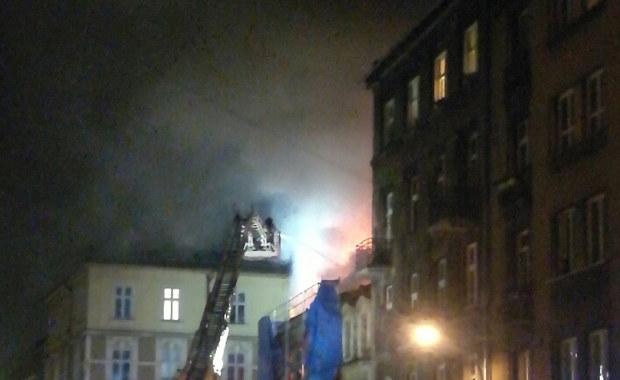 Kraków: Pożar w remontowanej kamienicy