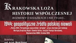 Krakowska Loża Historii Współczesnej zaprasza: 1944 - geopolityczne źródła polskiej niewoli