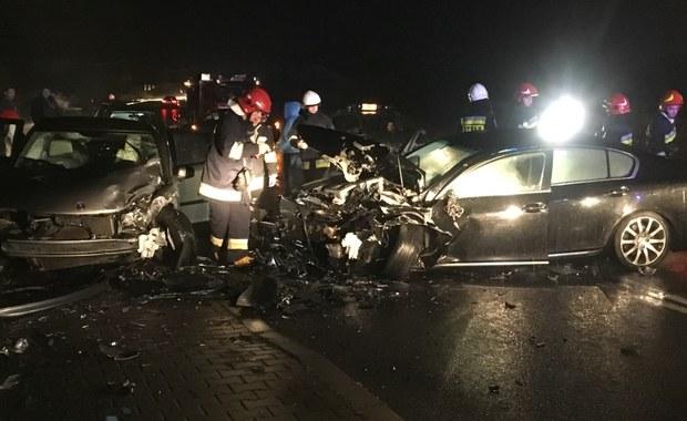 Kraksa trzech samochodów nieopodal Oświęcimia. 9 osób trafiło do szpitala