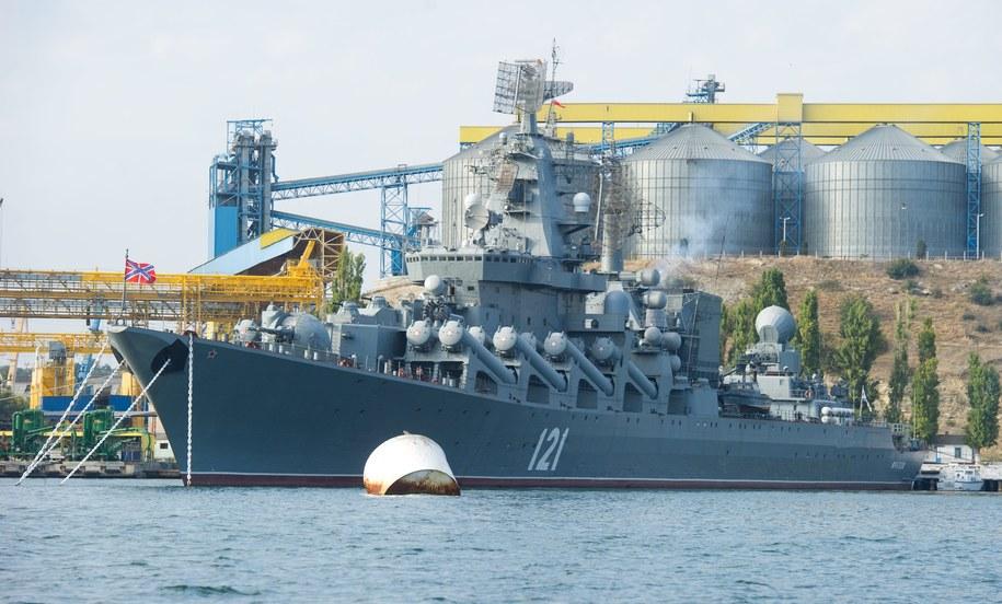 Krążownik rakietowy Moskwa / Grzegorz Michałowski    /PAP