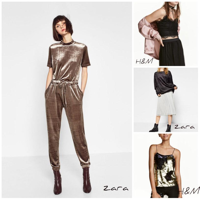 Kreacje do nabycia na stronach Zara i H&M /Printscreen Zara, H&M /materiały prasowe