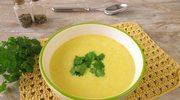 Krem kukurydziany z curry i kolendrą