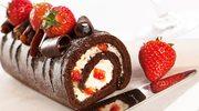 Krem z białej czekolady w biszkopcie