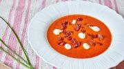 Krem z czerwonych warzyw z aioli