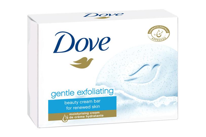 Kremowa kostka myjąca Dove gentle exfoliating /Styl.pl/materiały prasowe