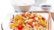 Krewetki na ostro z ryżem
