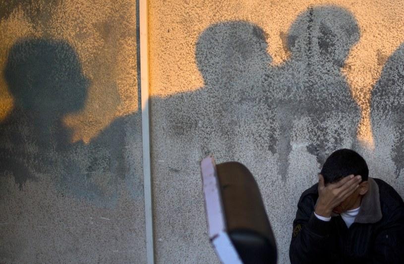 Krewny zabitej dziewczynki /AFP
