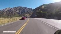 Krok od tragedii. Motocyklista cudem uniknął śmierci