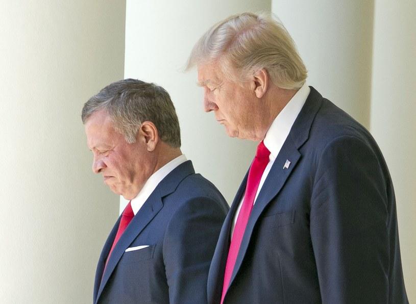 Król Abdullah II i Donald Trump /Reporter