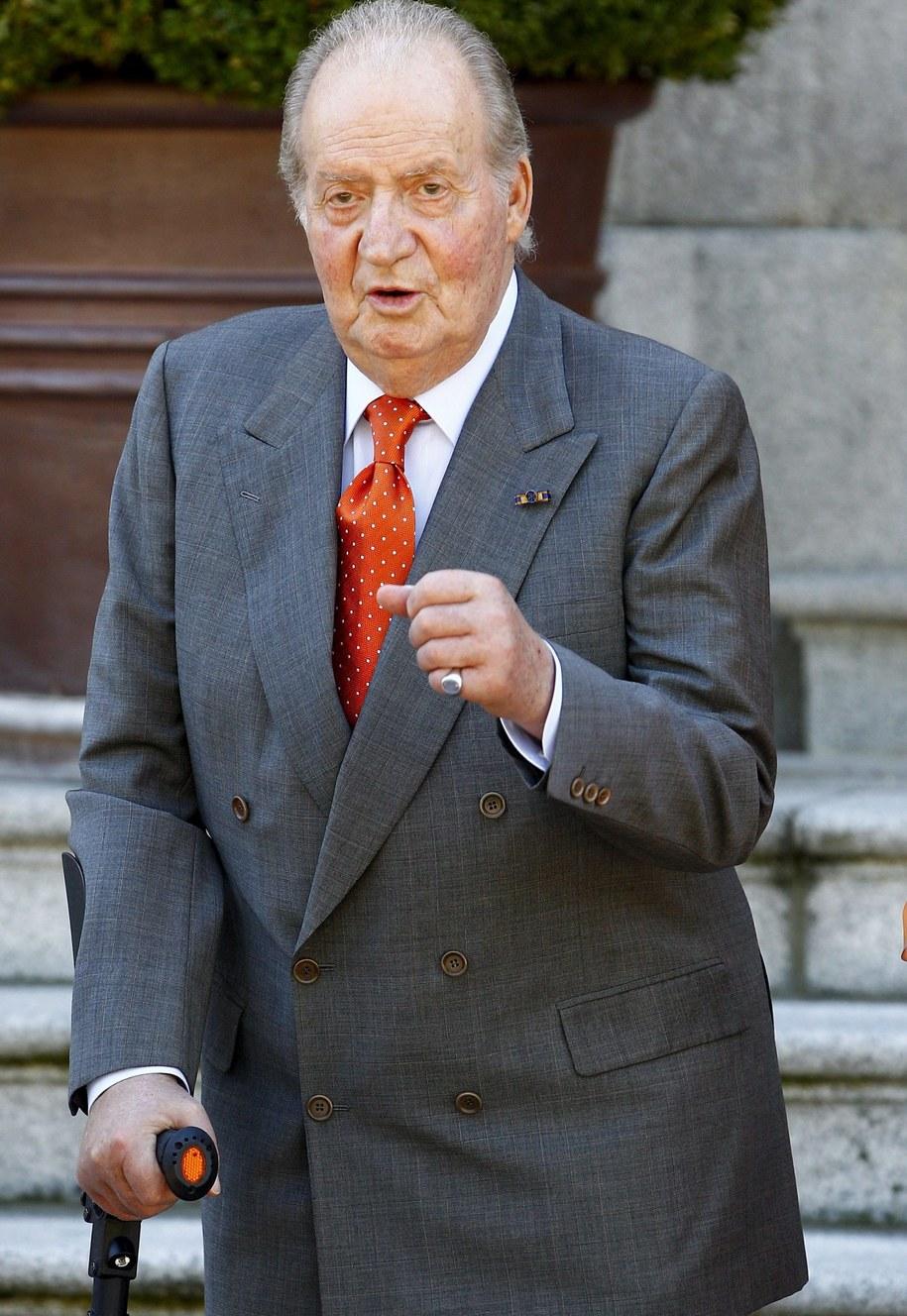 Król Hiszpanii Juan Carlos /Ballesteros    /PAP/EPA