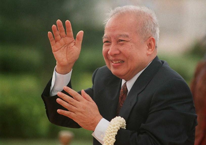 Król Kambodży Norodom Sihanouk (1922-2012) /AFP