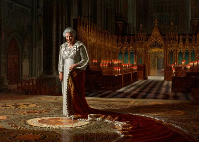 Krolowa Elżbieta II na obrazie namalowanym przez Ralpha Heimansa /AFP