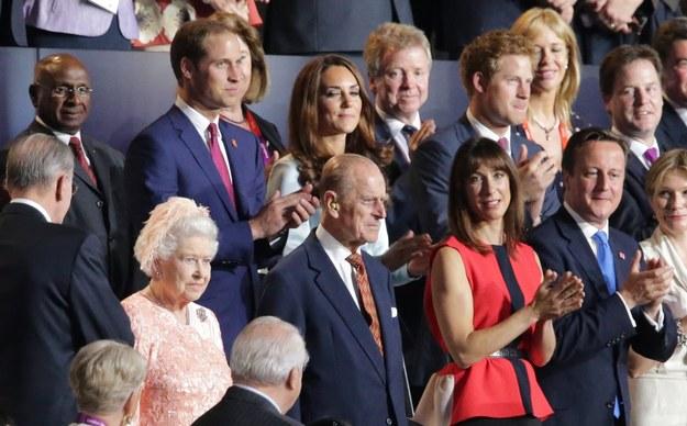 Królowa Elżbieta II podczas ceremonii otwarcia igrzysk /PAP/EPA