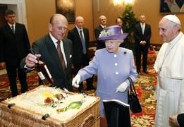 Królowa Elżbieta II u papieża Franciszka
