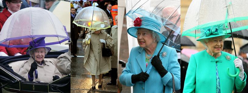 Królowa Elżbieta posiada pokaźną kolekcję parasoli /Getty Images