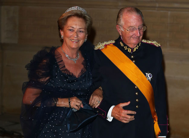 Królowa Paola i król Albert II /Getty Images/Flash Press Media