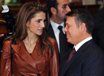 Królowa Rania i król Abdullah II /AFP