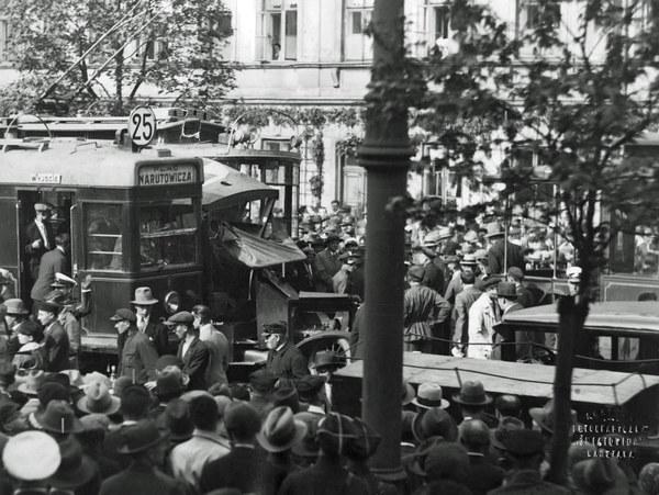 1931 r. Wypadek przy ul. Krakowskie Przedmieście