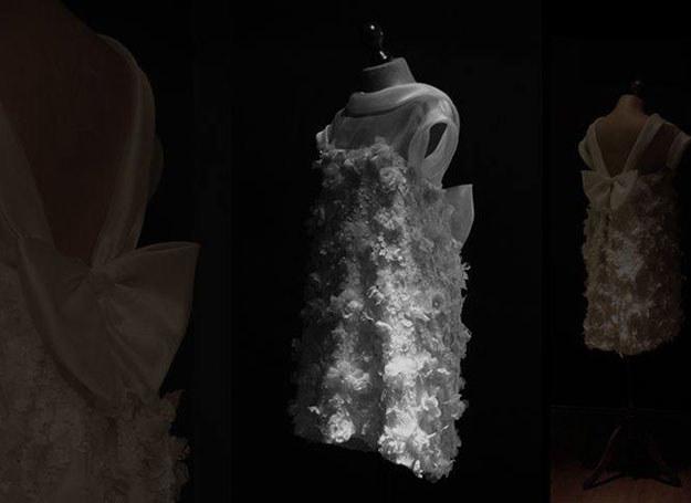 Krótka sukienka w niebanalnym fasonie /Le Frou Frou /abcslubu.pl