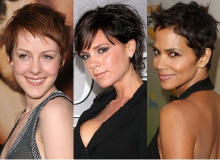 Krótkie włosy wybrały: Jena Malone, Victoria Beckham, Halle Berry /Getty Images/Flash Press Media