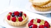 Kruche tartaletki z kremem maślano-cytrynowym i owocami