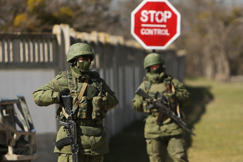 """Krym, marzec 2014. """"Zielone ludziki"""" /Getty Images"""