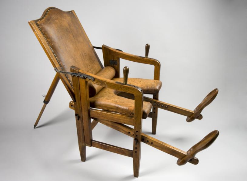 Krzesło do rodzenia, XIX w. /Agnieszka Lisak – blog historyczno-obyczajowy