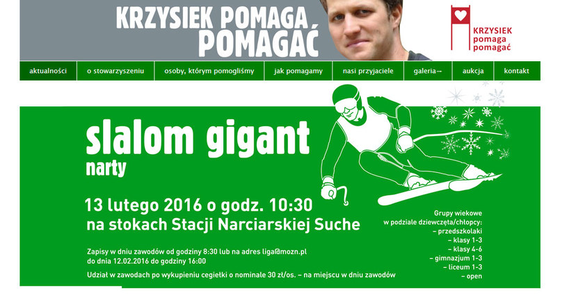 """Krzysziek Pomaga Pomagać"" /INTERIA.PL"