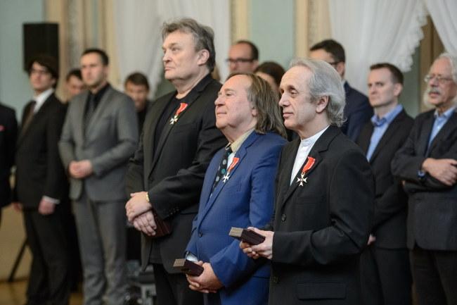 Krzysztof Cugowski, Romuald Lipko i Tomasz Zeliszewski /PAP/Wojciech Pacewicz /PAP