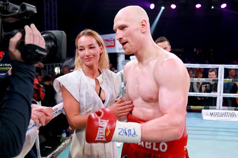 """Krzysztof """"Diablo"""" Włodarczyk i Małgorzata Babilońska-Włodarczyk /Fot. Tomasz Radzik /East News"""