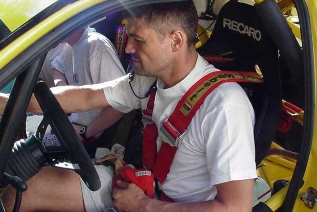 Krzysztof Hołowczyc w Seacie Cordoba WRC /INTERIA.PL