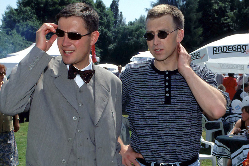 Krzysztof Ibisz i Maciej Orloś 2002 r. /Krzysztof Wojda /Reporter